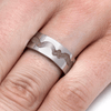Wavy Inlay Memorial Ring with Ashes-2072 - Jewelry by Johan