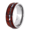 Titanium Ring with Mother of Pearl and Wood Inlays (3)