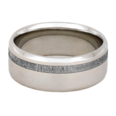 Platinum Men's Wedding Band With Meteorite-2292 - Jewelry by Johan