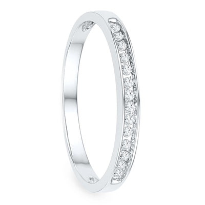 Diamond Wedding Band in Sterling Silver