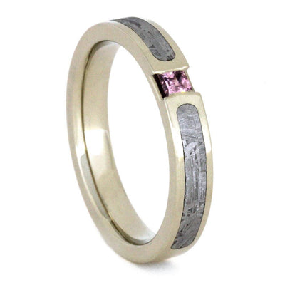 Pink Sapphire Engagement Ring, Meteorite and White Gold-3257 - Jewelry by Johan