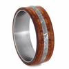 Titanium Men's Wedding Band with Meteorite And Tulipwood-2215 - Jewelry by Johan