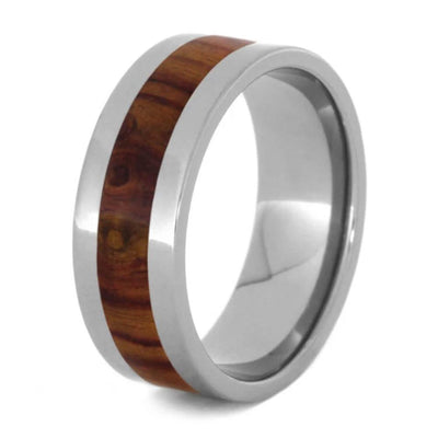Tulipwood Ring, Titanium Wedding Band-1051 - Jewelry by Johan