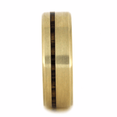 Yellow Gold Ring With Bocote Wood (2)