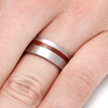 Ruby Redwood Wood Ring In Titanium-2241 - Jewelry by Johan