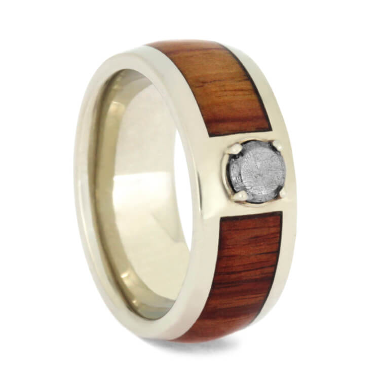 Gold Meteorite Stone Engagement Ring With Tulipwood, Size 4.5-RS9908 - Jewelry by Johan