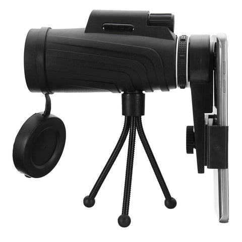 40X60 HD ZOOM PHONE LENS MONOCULAR TELESCOPE WATERPROOF + TRIPOD + CLIP FOR PHONE