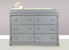 Zola Double Dresser Changer Topper in Twilight Gray