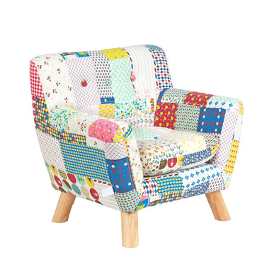 Jacey Floral Patchwork Kids Chair