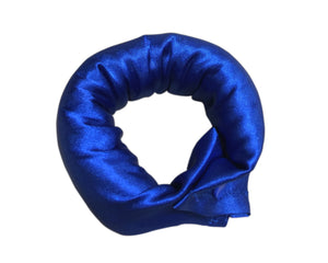 Royal Blue Satin Hair Bun Maker - Fabric Hair Accessory - Fabric Hair Curler - Roller - My Easy Curls