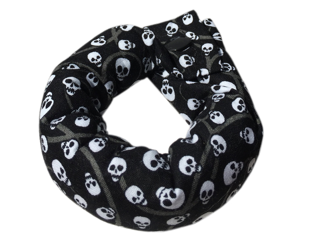 Scattered Skulls Soft Hair Bun -  Hair Accessories - Soft Hair Curlers - 1 inch Hair Rollers - My Easy Curls