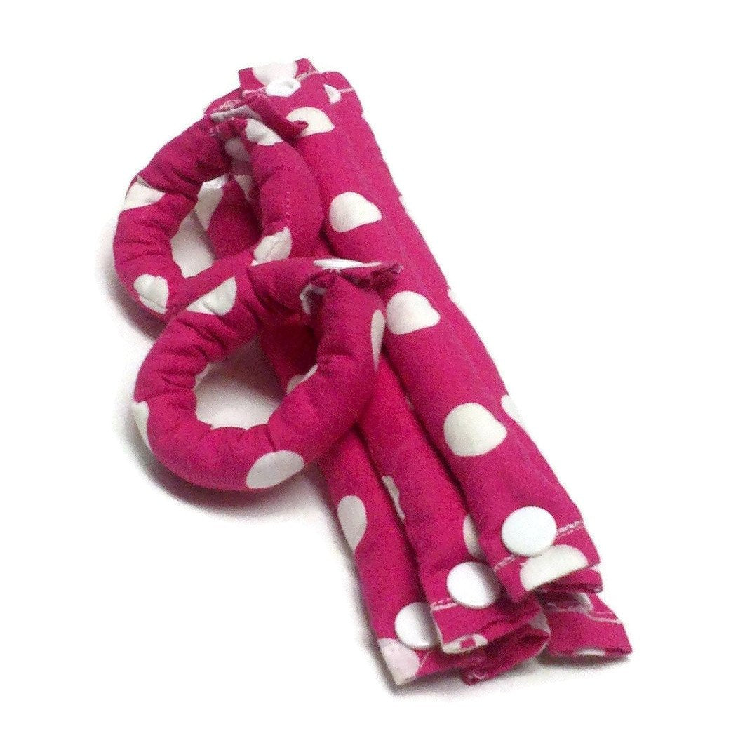 Soft Hair Rollers Rose Pink and Polka Dot 3/4 inch/ Hair Accessories/Soft Hair Curlers - My Easy Curls