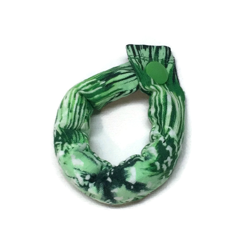 Green Bursting Firework Fabric Hair Rollers - Hair Curlers - My Easy Curls