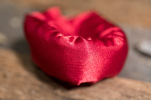 Red Satin Fabric Hair Roller, Hair Bun/Hair Donut - My Easy Curls