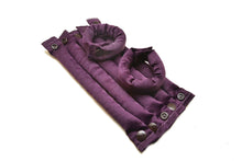 Plum Purple Satin fabric hair rollers - Curlers - Hair Accessories set - My Easy Curls