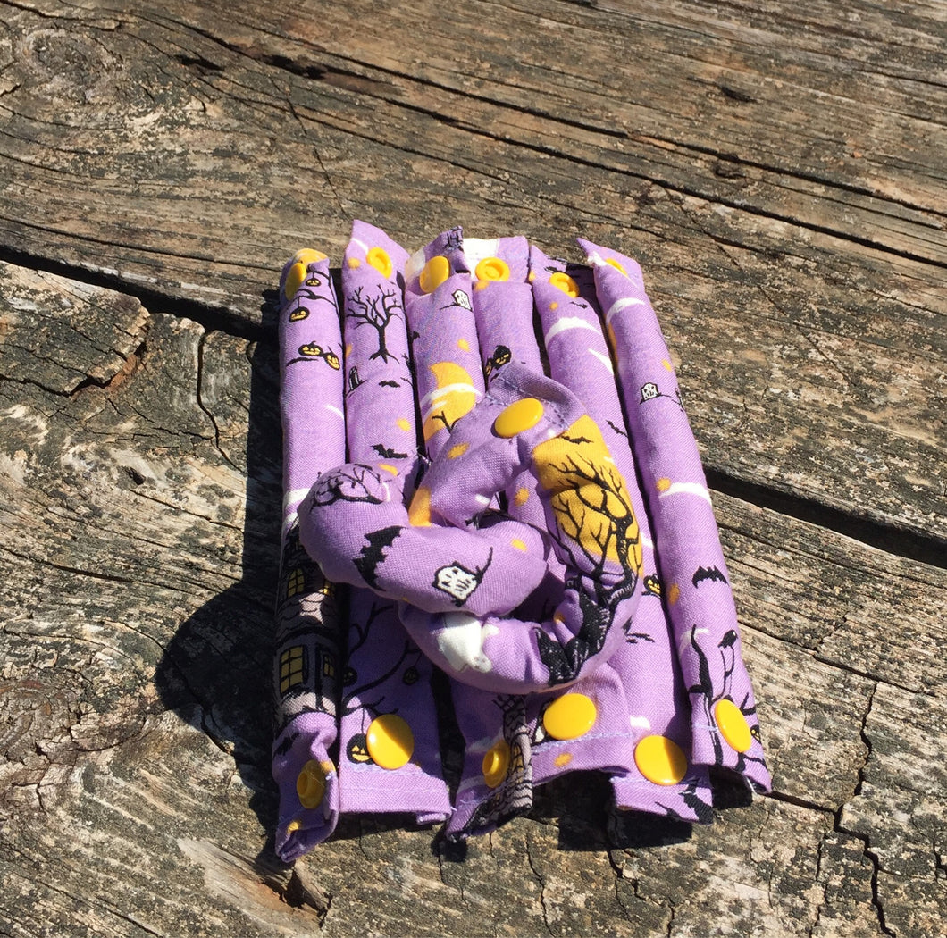 SALE  Halloween Fabric Hair Rollers/ Soft Fabric Rollers/Hair Curlers/Hair Accessories - My Easy Curls