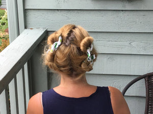 Seafoam Green Fabric Hair Rollers/Hair Curlers/Hair Accessories - My Easy Curls