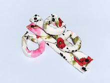 Silky Floral Fabric Hair Rollers Cosmos and Poppies - My Easy Curls
