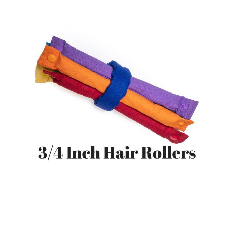 Rainbow Primary Colors Themed Fabric Hair Rollers / Soft Fabric Rollers / Hair Curlers / Hair Accessories - My Easy Curls
