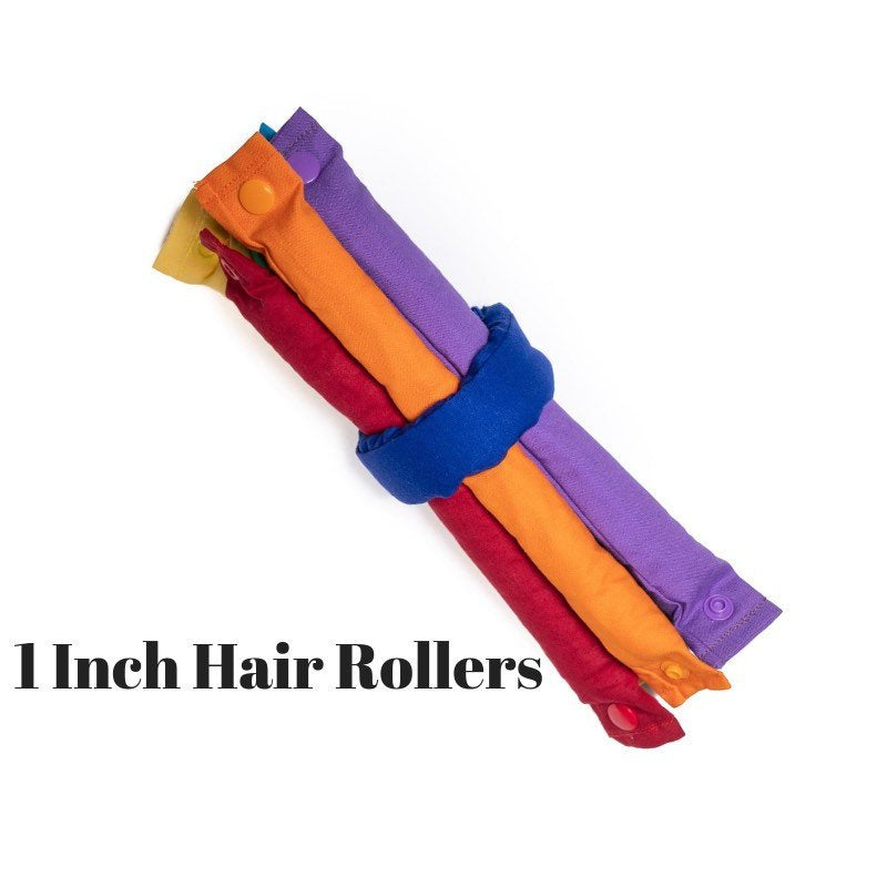 Rainbow Primary Colors Themed Fabric Hair Rollers - My Easy Curls