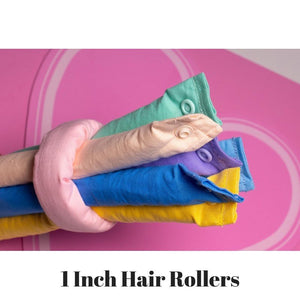 Rainbow Pastel Colors Themed Fabric Hair Rollers / Soft Fabric Rollers / Hair Curlers / Hair Accessories - My Easy Curls