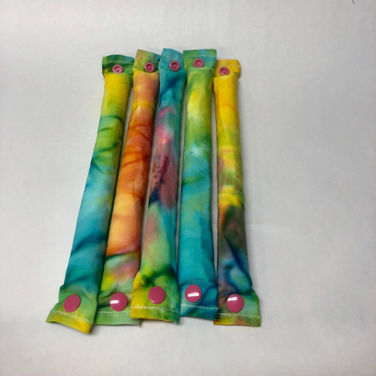 Tie Dye Fabric Hair Rollers / Soft Fabric Rollers / Hair Curlers / Hair Accessories - My Easy Curls
