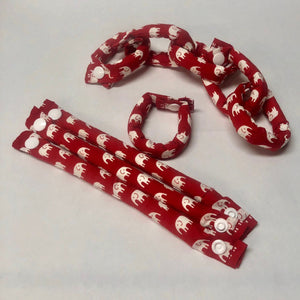 Elephants in Red and White Hair Rollers, Hair Curlers, Hair Accessories, soft curlers - My Easy Curls