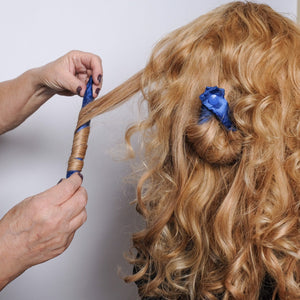 Royal Blue Satin Hair Rollers - Hair Accessories - Soft Hair Curlers - My Easy Curls