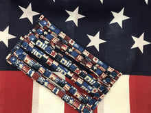 9 piece Star Spangled Fabric Hair Rollers/Hair Curlers/Hair Accessories - My Easy Curls
