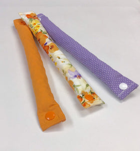 Spring Trio Orange and Purple 3 Piece set Fabric Hair Roller / Hair Curler / Hair Buns - My Easy Curls