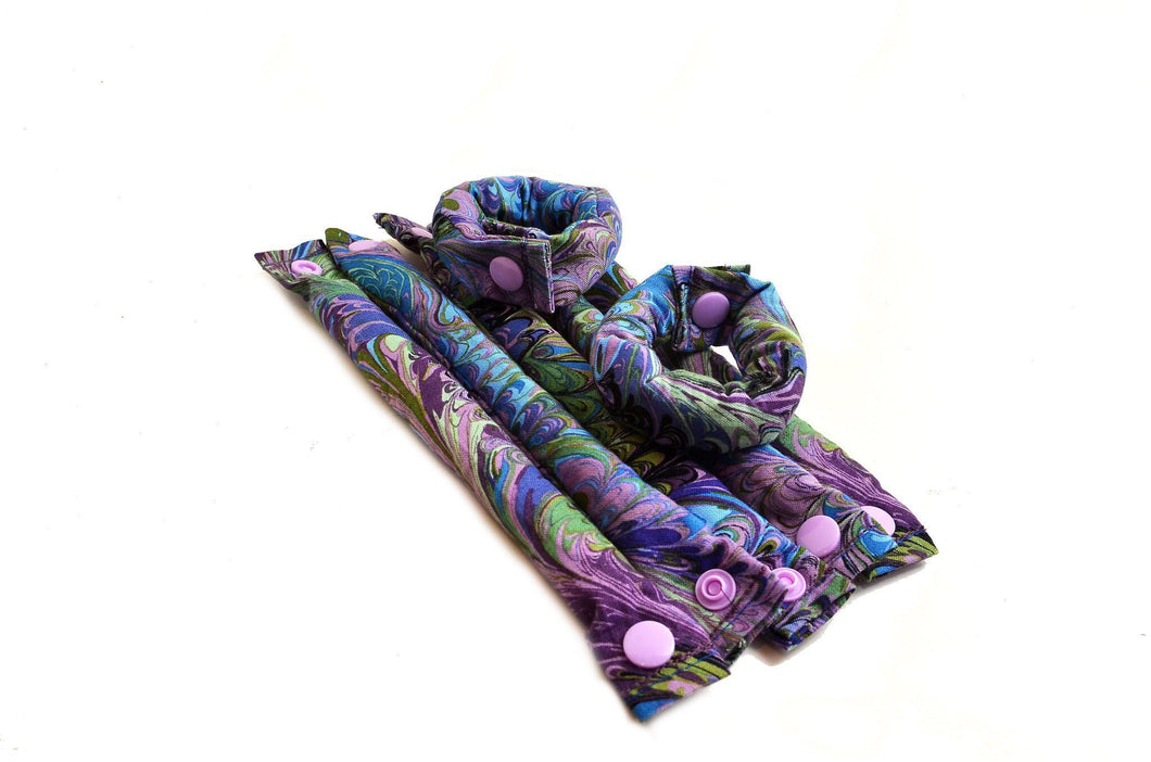 Oilslick Pattern Cotton Hair Roller - My Easy Curls