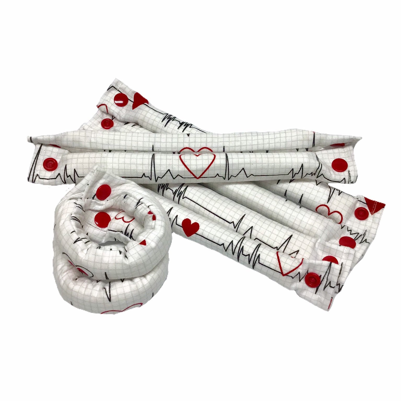 Heart Beat Cotton Fabric Hair Rollers - My Easy Curls