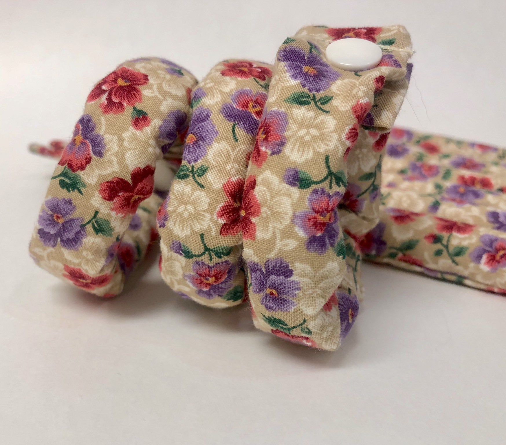 Pansy Floral Hair Rollers / Hair Accessories/Soft Hair Curlers/Hair Updo Tools - My Easy Curls