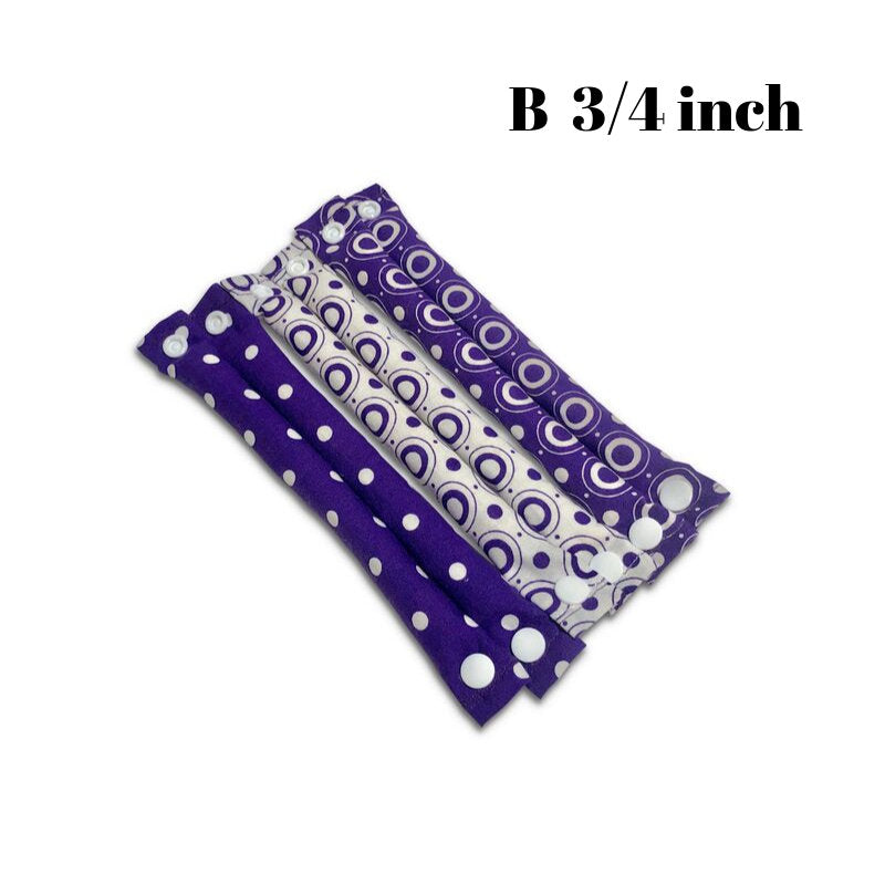 Purple Purple Polka Dots Hair Rollers  / Soft Fabric Rollers/Hair Curlers/Hair Accessories - My Easy Curls