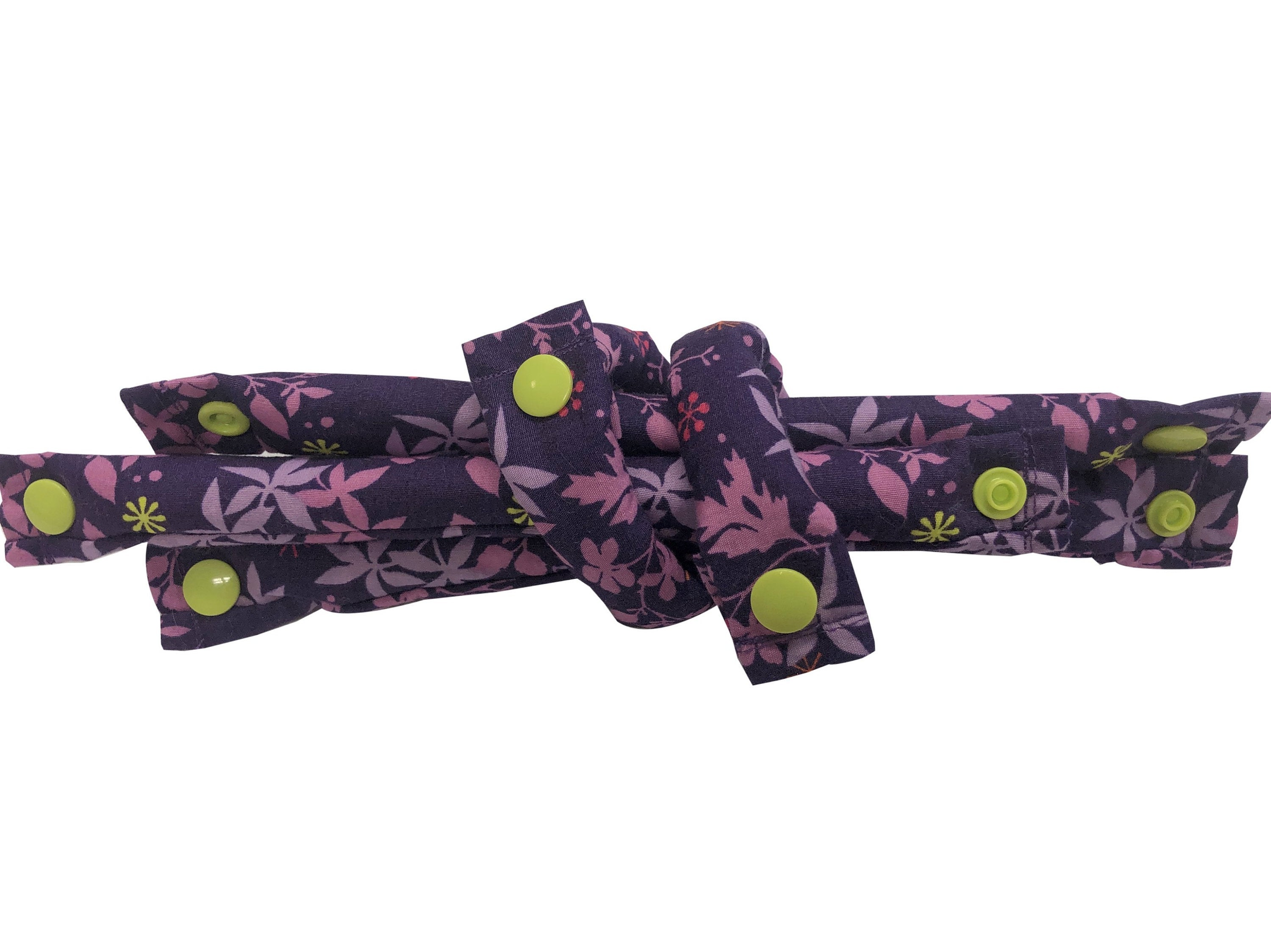 Lavender and Pink Print Fabric Hair Rollers