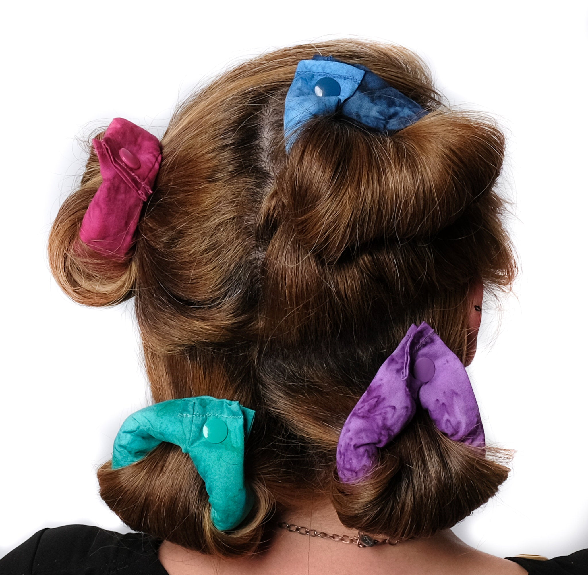 Printed satin fabric hair rollers/Hair Curlers/Hair Accessories