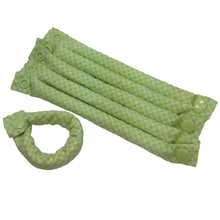 Green Checkerboard Print Fabric Hair Rollers/Hair Curlers/Hair Accessories - My Easy Curls