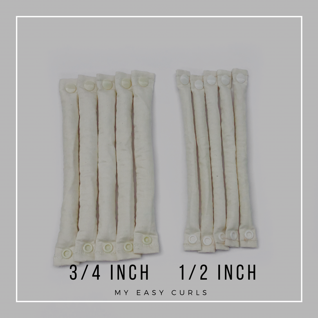 Unbleached Organic Cotton Hair Rollers - Hair Accessories - Soft Hair Curlers - My Easy Curls