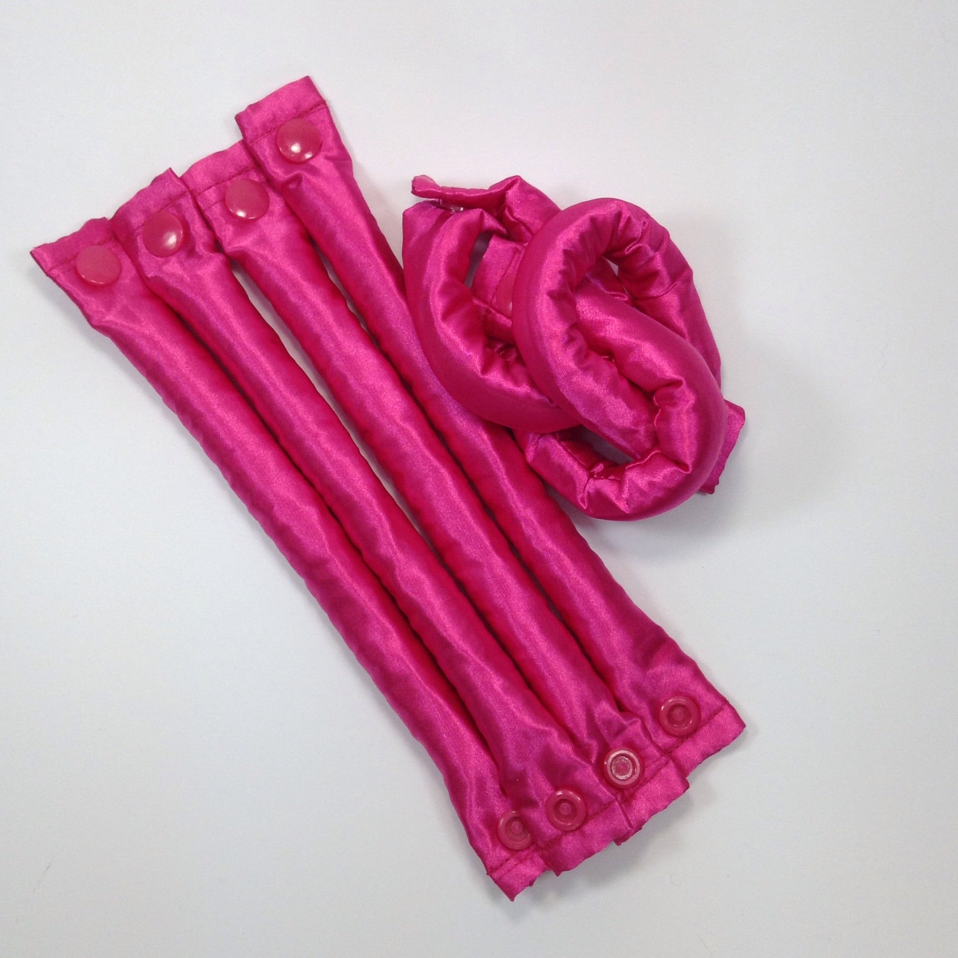 Bold Pink fabric hair rollers - Curlers - Hair Accessories set - My Easy Curls