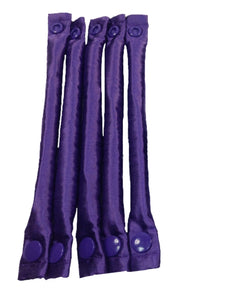 Purple Satin Fabric Hair Curlers / Fabric Hair Rollers set - My Easy Curls