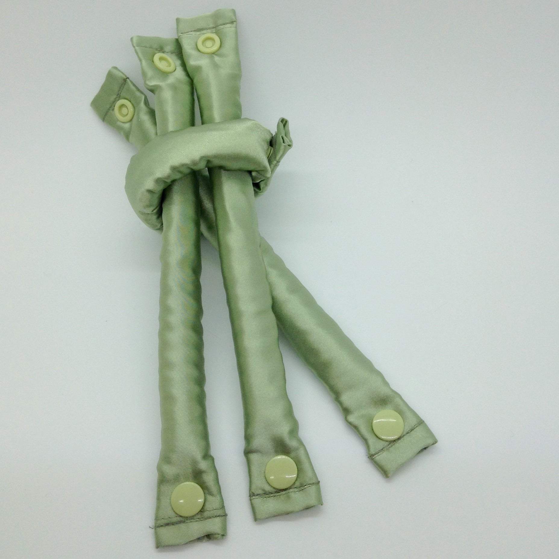 Sage Green fabric hair rollers - Curlers - Hair Accessories set - Bendy Rollers - My Easy Curls