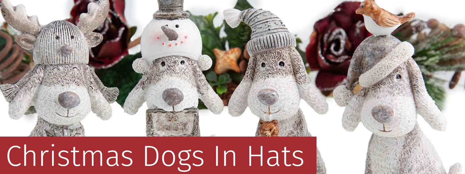Dogs In Hats Christmas Decorations