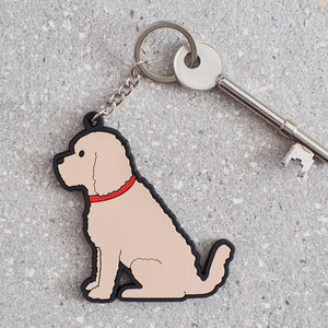 Dog Lover Gifts available at Dog Krazy Gifts – Adorable Apricot Cockerpoo Keyring - part of the Sweet William range available from Dog Krazy Gifts