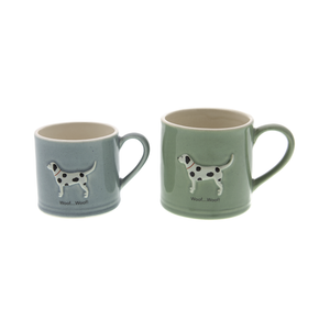 DogKrazy.Gifts – Bailey & Friends shabby chic Spotty Dog – 150ml and 250ml Dalmatian mugs. Part of the Bailey & Friends range of mugs and all available from Dog Krazy Gifts