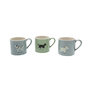 DogKrazy.Gifts – Bailey & Friends shabby chic 150ml espresso mugs. Part of the Bailey & Friends range of mugs available from Dog Krazy Gifts