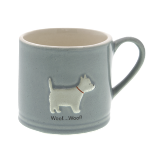 DogKrazy.Gifts – Bailey & Friends shabby chic Westie – 150ml espresso mug. Part of the Bailey & Friends range of mugs available from Dog Krazy Gifts