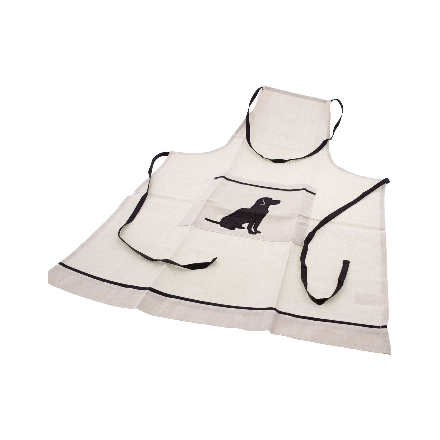 Dog Lover Gifts available at Dog Krazy Gifts - Black Labrador motif on cream Apron - Part of the Black Dog Range available from Dog Krazy Gifts