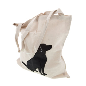Dog Lover Gifts available at Dog Krazy Gifts - Black Labrador motif on cream Tote Bag, part of the Black Dog range available from Dog Krazy Gifts
