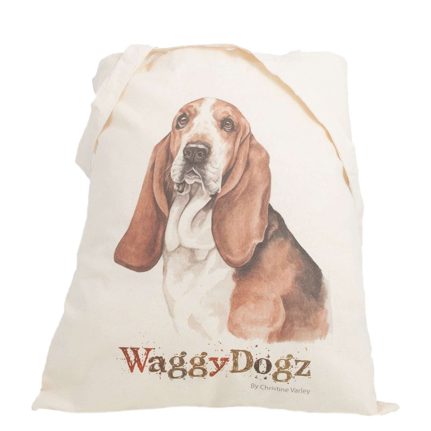 Dog Lover Gifts available at Dog Krazy Gifts. Basset Hound Tote Bag, part of our Christine Varley collection – available at www.dogkrazygifts.co.uk