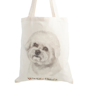 Dog Lover Gifts available at Dog Krazy Gifts. Bichon Frise Tote Bag, part of our Christine Varley collection – available at www.dogkrazygifts.co.uk